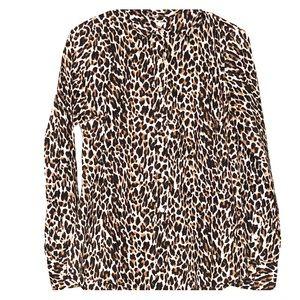 J.Crew a leopard print blouse
